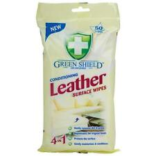 140 EXTRA LARGE Leather Cleaning Wipes Protects Sofa Chair Car Seat Green Shield