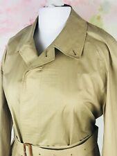 Authentic Burberry Kraft Camel nude trench Coat cotton size 14 16 eu 42 44 B3