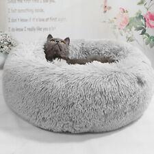 Dog Bed Indestructible Plush Shaggy Pet Cat Sleeping Mat Kennel Cushion Grey S