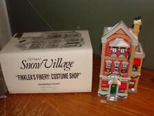 The Original Snow Village Finklea's Finery Costume Shop Dept. 56 5405-4 NICE