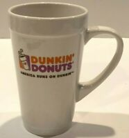 Dunkin Donuts Tall 16 oz Coffee Latte Cup Drink Mug ''America Runs on Dunkin''