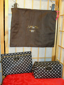 KATE SPADE Poke a Dot Set 2Pc & Dust Cover Cosmetic Case Pouch NWOT Gift Item!