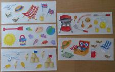 """Creative Memories Sticker """"Ferien / Strand / Picknick"""" 5 Bögen NEU/RAR"""