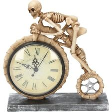 Nemesis Now Wheels of Time Skeleton Cycle Clock 21.3cm Goth Steampunk