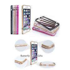 BORDE de cristal de aluminio ligero Iphone Paragolpes Estuche 6, 6+ 6s 6s+ 7, Iphone 7+
