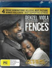 Fences (Blu-ray, 2017) New (Denzel Washington,Viola Davis)Region B Free Post