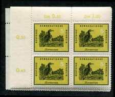 Germany: East (DDR) 444-49 MNH Control # Blocks of 4, Bird