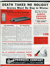 1936 Vintage Weird Advertising: Portable Weed-Burning Torch For Cemeteries