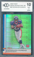 2009 finest green refractors #90 KNOWSHON MORENO rookie BGS BCCG 10