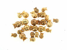 Vintage Gold Coated Lucite Mixed Whimsical Tulip Bulb Flower Figural Bead Lot
