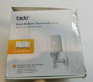 tado° V3P4SRT01VTCML Smart Radiator Thermostat - Quattro Pack - NEW DAMAGED BOX