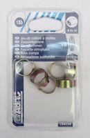6 Pz ABAC fascette stringitubo ø tubo 8 x 13 mm in ottone x aria compressa nuovo