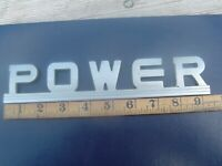 VINTAGE POWER BADGE AUTOMOBILIA