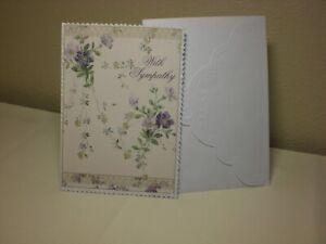 Carol's Rose Garden -  Sympathy card - Lovely Purple flowers on front