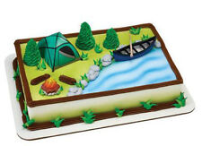 Camping Tent Canoe Camp Boat Fire Scouts cake decoration Decoset cake topper set
