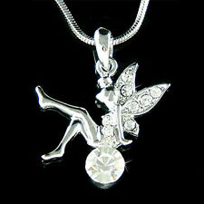 w Swarovski Crystal Sexy Tinker Bell Tinkerbell Magic Ball Tink Pendant Necklace