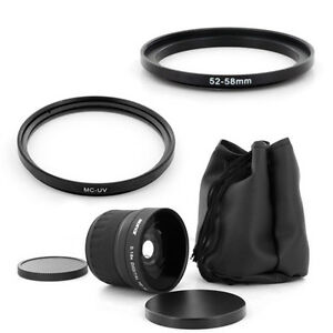 Wide FishEye 0.18x lens + UV Filter For Panasonic Lumix DMC-G7 G7K FZ100 FZ45 40