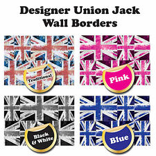Union Jack style patterned Border for Wall/Room - 4 Designer Styles - 5m total
