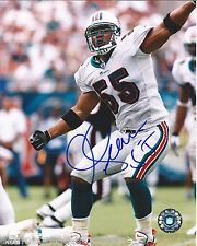 MIAMI DOLPHINS CHARGERS JUNIOR SEAU HAND SIGNED AUTHENTIC 8X10 PHOTO W/COA RIP
