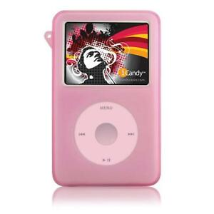 iCandy Silicone Case for iPod classic  w/Armband-PINK