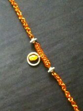 Orange Persian and 3 in 3 twist bracelet