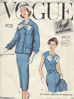1957 Vintage VOGUE Sewing Pattern B36 DRESS & JACKET (1218) By DIGBY MORTON