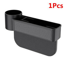 ABS Carbon Fiber Seat Crevice Box Storage Cup Drink Holder Organizer Fit For Car