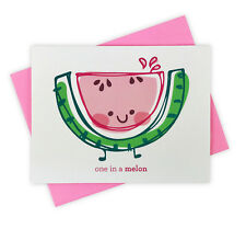 You're One in A Melon Handmade Card with Watermelon for Thinking of You Congrats