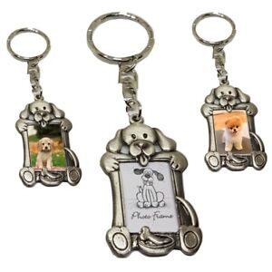 Dog Puppy Photo Keyring Pet Key chain Charm Custom Animal Gift 1 x Solid Metal