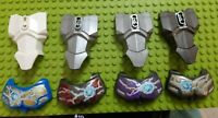 USED LEGO 4x Lge Figure Torso Armour 2 Chest Holes 90652 & Chest Armour Sm 98603