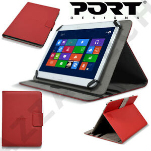 "Port Designs 7"" Universal Tablet Kickstand Red Magnetic Folio Case Cover Stand"