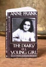 Dollhouse Miniature 'Anne Frank: The Diary of a Little Girl' Book! Readable!
