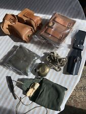Yugo Mauser Ammo Pouches, Cleaning Kits, And K98 Bayonet Frog