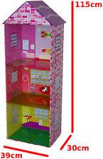 1,15 Meter hohes Puppenhaus [ auch für große Puppen ] Puppenstube Spielhaus