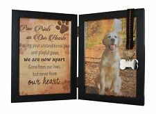 """Pet Memorial 5""""x7"""" Picture Frame For Dog or Cat With Ribbon and Tag - Features a"""