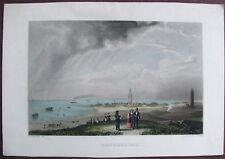 WANGEROOGE. Gesamtansicht. Handkolorierter orig. Stahlstich ca. 1850