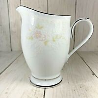 Noritake  Fine China TEMPTATION Creamer 2752 Floral Platinum Trim