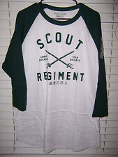 Attack On Titan SCOUT REGIMENT Adult Size XL Raglan Loot Crate Anime
