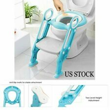 New listing Training Toilet Seat wi/ Step Stool Ladder for Baby Toddler w/ Handles Anti-Skip