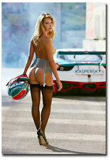 """Sexy Racer Girl Fridge Toolbox Magnet Collectible Size 2.5"""" x 3.5"""""""