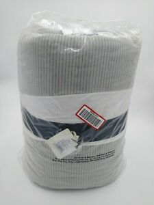 Quilt Full/Queen Woven Stripes Gray With Blue Hearth & Hand with Magnolia New