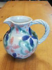 Vintage Stapleton House Pottery Jug with Floral Design V.G.C