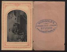 CRESCENT AMUSEMENT PARK Rhode Island RI TIN TYPE PHOTO Family in 1902 PACKARD?