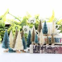 `24Pcs Tabletop Christmas Pine Tree Xmas Mini Snow Tree Small Decoration Gift US
