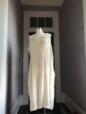 20's Vintage Silk and Lace Nightgown Romantic pale pink large