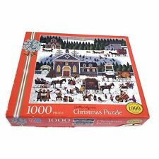 MB Charles Wysocki Christmas Puzzle Collector's  1990 Edition 1000 Pcs Puzzle