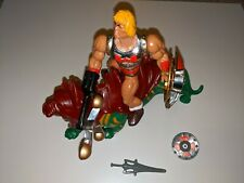 Flying Fists He-Man & Battle Cat With Weapons MOTU Retro 80's Action Figure