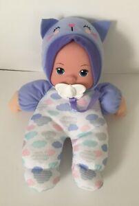 My Sweet Love 10'' Soft Baby Doll w/ Pacifier Binky Blue Cat Hat Walmart 65114