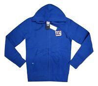 New York Giants NFL Full Zip Fleece Hoodie Blue / Red Men's Sizes NEW