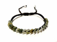 Bijou pierre jade donuts sur cordon bangle idéal pour cadeau